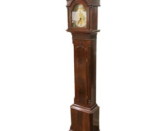 English Georgian Tall Case Grandmother Clock 19th Century