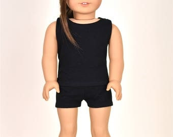 "Combo Set ""Simple Basics"" 18 inch doll clothes Color Black"