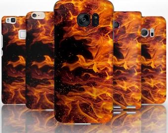 BG0033 Plastic hard case print, personalized/ custom/ personalised phone protective case orange fire