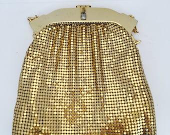 Vintage Mesh Whiting & Davis Gold Handbag