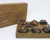 Personalised Compact Solid Oak D&D Dice Box
