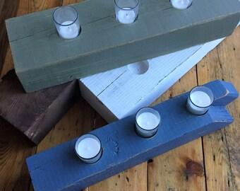 Reclaimed Barnwood Centerpiece Candle Holder