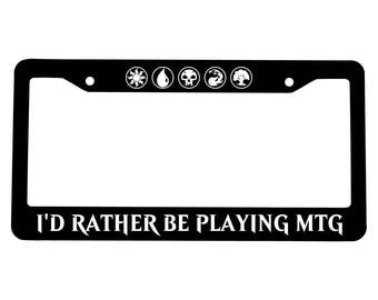 MTG License plate Frame