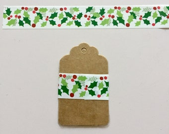 Washi Tape Samples- Festive Christmas Holly Berries