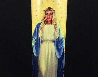 Lindsay Lohan Prayer Candle