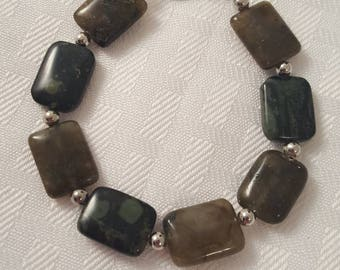 Green Stone Beaded Bracelet - Stone Bracelet - Green Stone Bracelet - Green Bracelet - Stone Jewelry - Green Jewelry - Green Stone - Stone