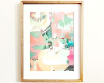 Abstract art, Wall art, PRINTABLE art, Colorful art, Abstract art, Modern painting, Large abstract painting, Abstract print, Pink & teal art