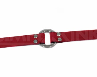 Day Collar or Slave Collar in Classic Red