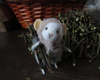 Felted mouse, mice,needle felted mouse, felt animal,felted wool mouse, needle felted ornament decorative toy
