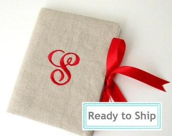 READY TO SHIP-Letter S Personalized Photo Album - Monogrammed Brag Book - Monogram Photo Album - Personalized Wedding Album- 4X6 photo album