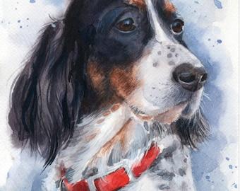 Gift for mother Custom Dog portrait Custom Dog Painting Custom Pet portrait Watercolor Painting Original Painting Gifts for mom Gift for her