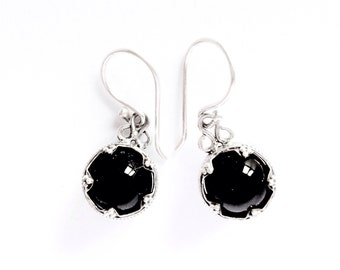 Onyx Silver Earrings Gotlang VIKING KRISTALL Filigree