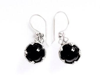 Onyx Silver Earrings Gotlang VIKING KRISTALL Filigree