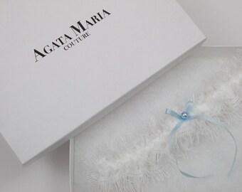 Soft Lace and Silk Ribbon Ivory Wedding Garter, Ivory Bridal Garter with Swarovski Element, Toss Garter, Bridal Garter Gift Set