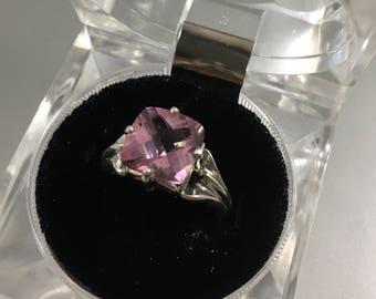 Handcrafted 3.4ct Pink Topaz Ring