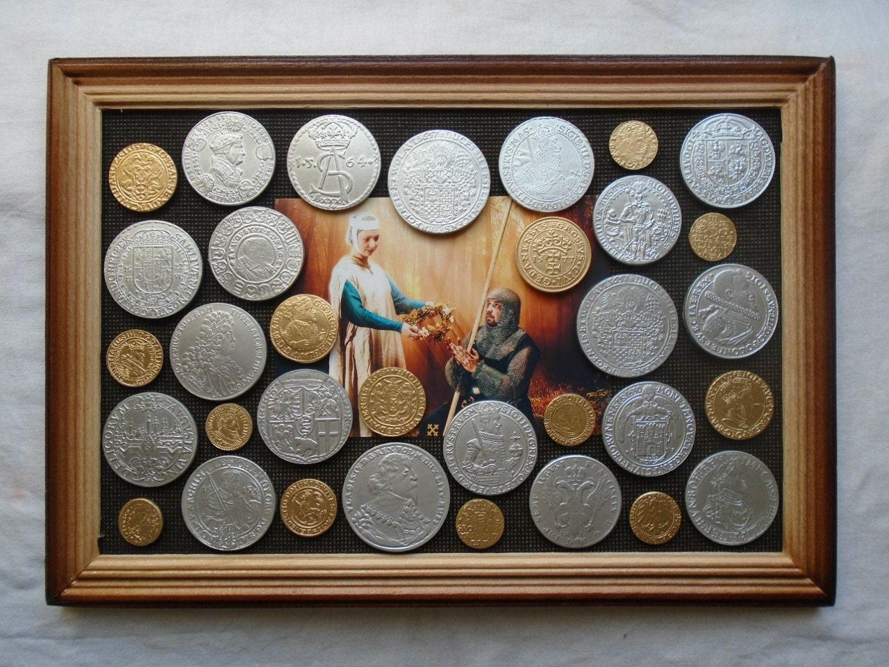 Wall Decor Gypsum : Crusaders gypsum coins wall art decor composition x