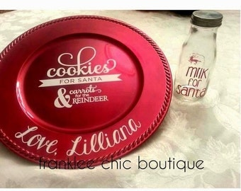 Personalize Santa Plate & Cup