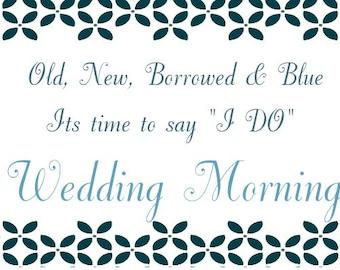 Wedding Morning Wine Label *Free Shipping*