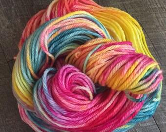 Summertime High, DK weight, 100% Merino wool, hand dyed