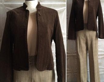 Brown velvet jacket | Etsy