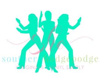 Disco girls SVG design/ SVG file/ svg design/ disco svg/ disco/ girls svg/  charlies angels svg/ cricut/ silhouette