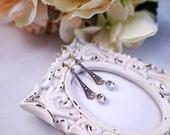 Romantic Art Deco Swarovski crystal earrings, Silver Art Nouveau earrings, Art Deco with Swarovski crystal earrings, Long Victorian drops