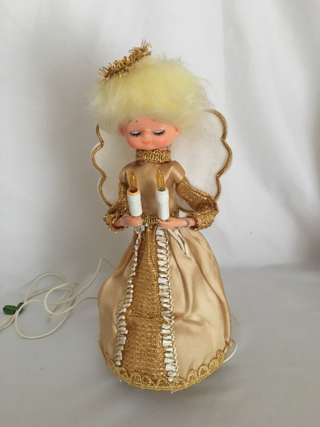 Vintage Angel Christmas Tree Topper Heavenly By
