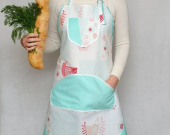 Full apron Homeware Kitchenware Womens Aprons Handmade apron Adjustable apron Ladies apron Natural Cotton apron Kitchen apron Pinafore apron