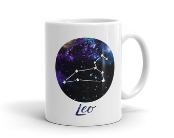 Leo Coffee Mug - Ceramic Coffee Cup - Leo Mug - Zodiac - Star Sign - Astrology - Cocoa Mug - Friend Gift -Tea Mug- Coffee Gift Idea
