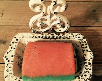Sweet Watermelon, Cucumber Melon, Watermelon Soap, Cucumber Soap, Made with Greek Yogurt, Handmade Soap, Summertime Soap, Unisex Bar Soap