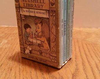SALE -- Vintage Four Volume Nutshell Library By Maurice Sendak