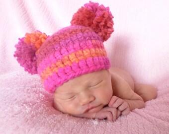 Newborn baby hat or photo prop