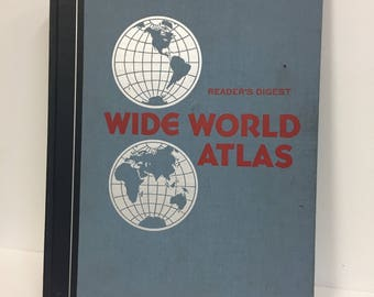 Vintage World Atlas/ VIntage Reader's Digest World Atlas/ Vintage Book of Maps/ Vintage Map Book