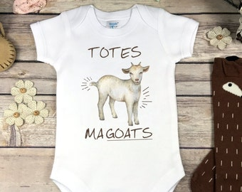 Goat Onesie®, Bodysuit or Infant Shirt Totes Ma Goats Hipster Baby Clothes Baby Shower Gift Funny Cute Baby Goat Onsie Baby Boy Girl Clothes