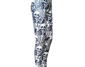 Gothic legging many skeletons