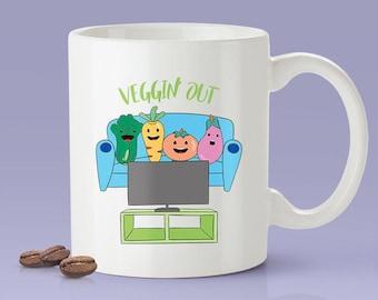 Free Shipping Worldwide  - Veggin' Out - Funny - Coffee Mug