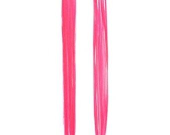 Metallic Pink Hair Extensions