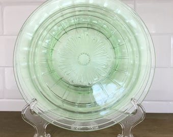 Vintage Depression glass plates - assorted - set of 4