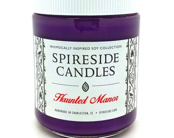 Haunted Manor ® Candle - Spireside Candles - Disney Candles - 8 oz Jar