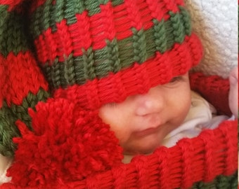 Baby Santa Hat _ Baby Elf Hat _ Christmas Photography Prop