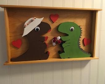 Dinosaur Love Box Frame