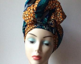 Headwrap, African print headtie , sales