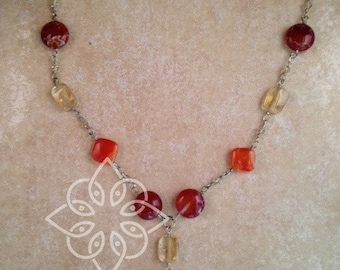 Fall Silver Necklace