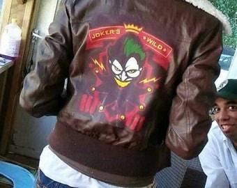 Harley Quinn Bombshell inspired bomber jacket