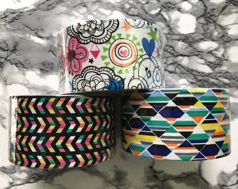Patterned Duct Tape Drawings|Chevron|Triangles|Printed DuctTape