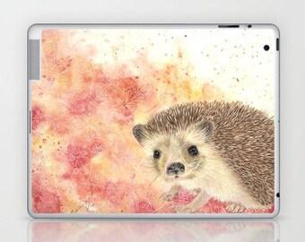 iPad skin of Hedgehog - 2nd, 3rd and 4th GEN hedgehog art, hedgehog watercolor, hedgehog lover art gift, colorful hedgehog