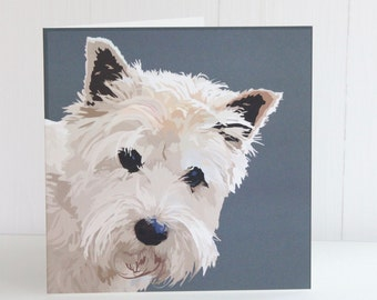 Westie Greeting Card Archie
