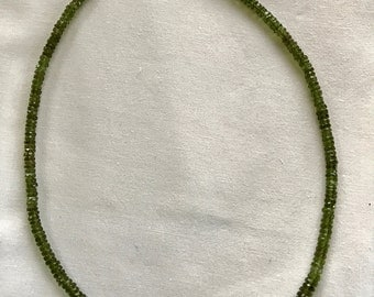 Faceted Moldavite Necklace