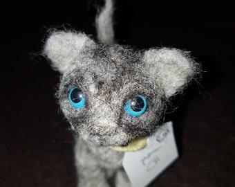 Needle Felted OOAK Small Tabby Cat Felting/kitten/gift