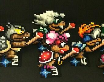 Super Mario 3 Stand Up Perler - Koopa Family